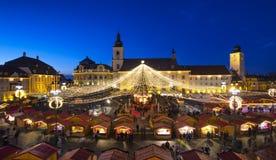 Sibiu-Weihnachtsmarkt stockfotografie