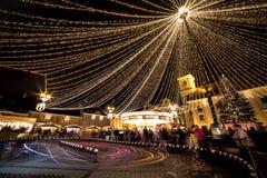 Sibiu-Weihnachtsmarkt Stockfoto