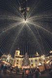 Sibiu-Weihnachtsmarkt Lizenzfreie Stockfotografie