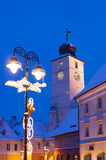 Sibiu in winter Royalty Free Stock Photos