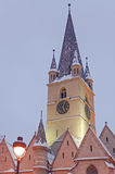 Sibiu in winter Royalty Free Stock Images
