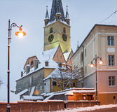 Sibiu in winter Stock Photos