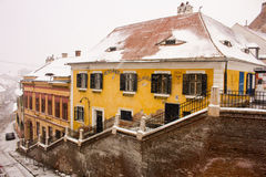 Sibiu winter view Royalty Free Stock Images