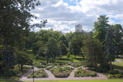 Sibley公园在Mankato俯视 免版税库存照片