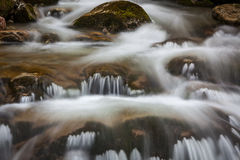 Sibli-Wasserfall小瀑布。巴伐利亚,德国 免版税库存照片