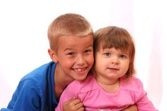 Sibling Boy and Girl royalty free stock image