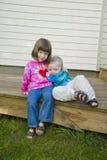 Sibling Hug Royalty Free Stock Images
