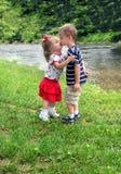 A Sibling Kiss Royalty Free Stock Image