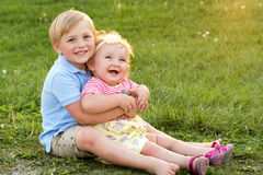 Sibling Love Stock Photo