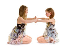 Sibling Lyrical Dance Sister Partners Stock Photos
