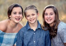 Sibling portrait Stock Images