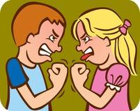 Sibling Rivaliteit Stock Foto