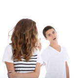Sibling rivalry and jealousy Stock Photo