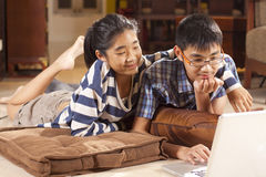 Sibling study Royalty Free Stock Image