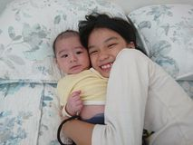Siblingförälskelse royaltyfri bild