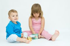 Siblings Royalty Free Stock Photos