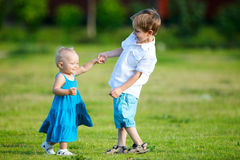 Siblings royalty-vrije stock fotografie