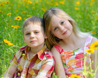 Siblings Stock Photography