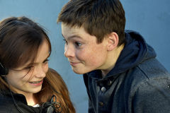 siblings image libre de droits