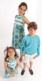Siblings in blue Royalty Free Stock Photos