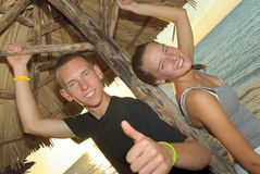 Siblings in Cuba Stock Photography