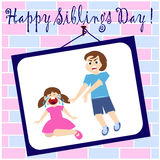 Siblings day Royalty Free Stock Image