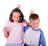 Siblings die pret hebben samen Stock Foto