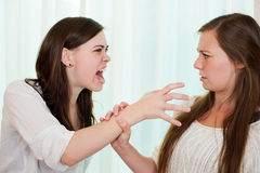 Siblings fighting Royalty Free Stock Photos