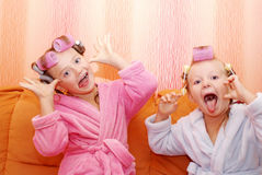 Siblings, Girls, sisters. Royalty Free Stock Photography