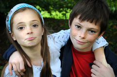 Siblings Royalty Free Stock Photography