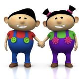 Siblings holding hands Royalty Free Stock Image