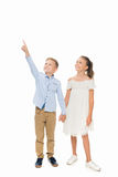 Siblings holding hands Royalty Free Stock Photography