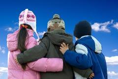 Siblings Hug Stock Photography