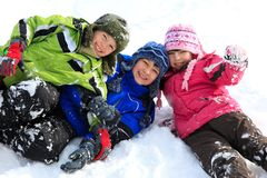 Free Siblings In The Snow Stock Photos - 11619623