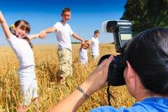 Siblings looking at camera Royalty Free Stock Photography
