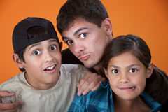Siblings Making Faces Royalty Free Stock Photography
