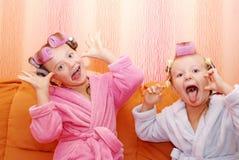 Siblings, Meisjes, zusters. Royalty-vrije Stock Fotografie