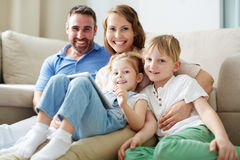 Siblings and parents Royalty Free Stock Photo
