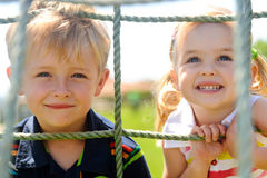 Siblings playing royalty free stock photography