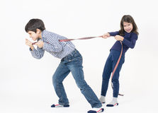Siblings Playing Stock Photography
