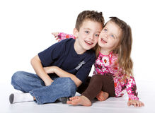 Siblings portrait stock photography