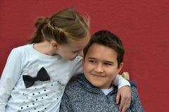 Siblings. Portraits of very good looking  siblings Stock Images