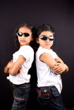 Siblings Rivalry Royalty Free Stock Photography
