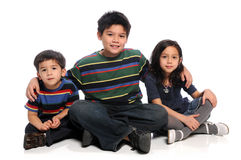 Siblings Sitting Royalty Free Stock Photography