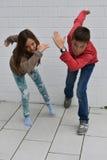Siblings sportive Stock Photo