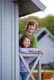 Siblings Standing Together Stock Image