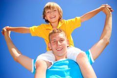Siblings together. Younger and older brothers together Royalty Free Stock Photography