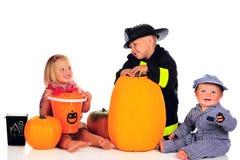 Siblings van Halloween Stock Fotografie