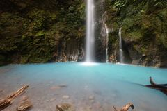 Sibolangit Waterfall. 2 colour waterfall situated in Medan Indonesia Royalty Free Stock Images