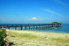 Sibu ö, Mersing, Johor, Malaysia Arkivbilder